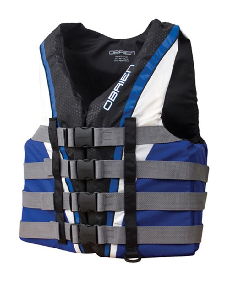 O'Brien 4 Buckle Pro Nylon CE Buoyancy Vest XS Blue