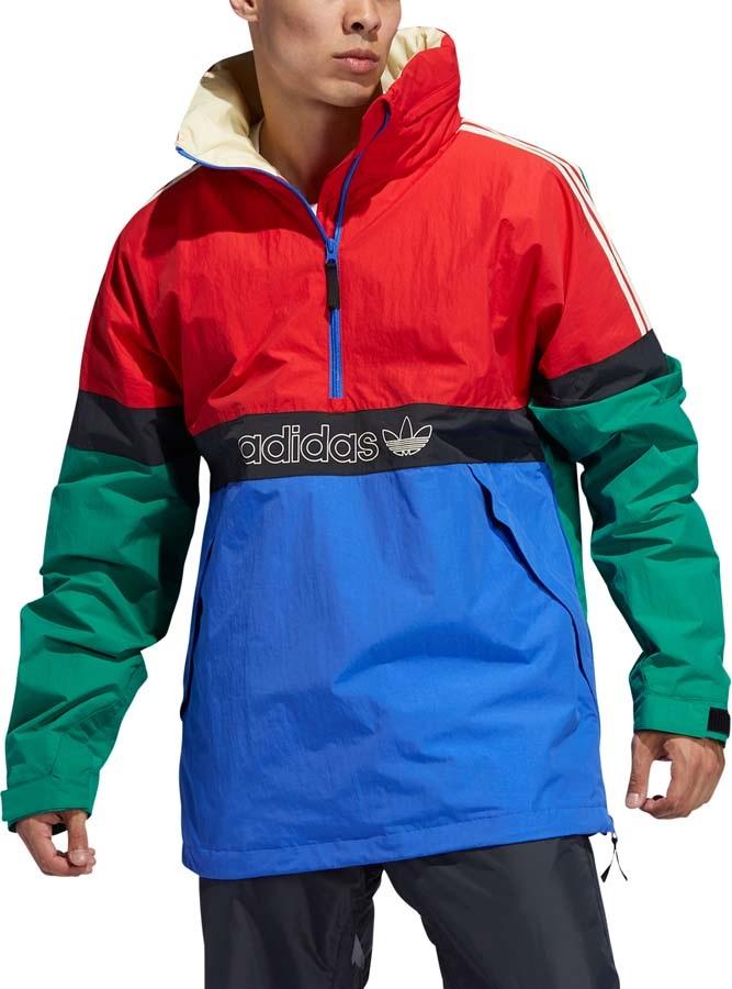 Adidas BB Snowbreaker Ski/Snowboard Jacket, S Bold Green/Power Red