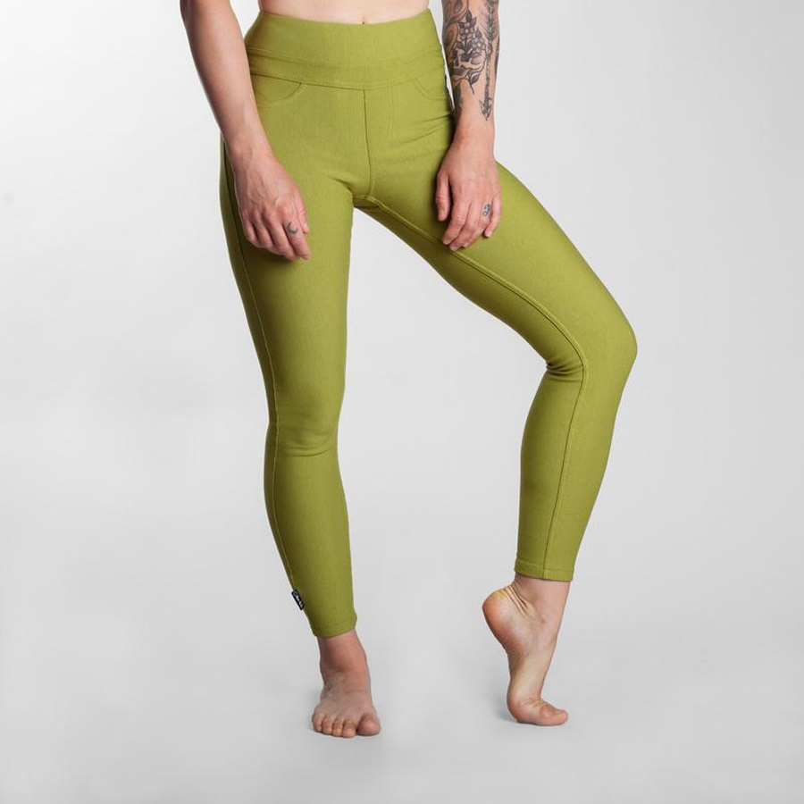 So iLL Womens Active Jeans Stretch Climbing Pants, M/L Olive