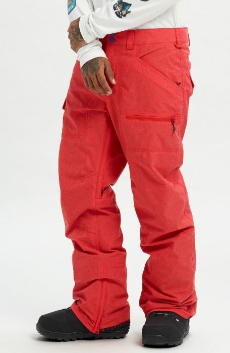 Burton Covert Insulated Snowboard/Ski Pants, M Flame Scarlet Ripstop