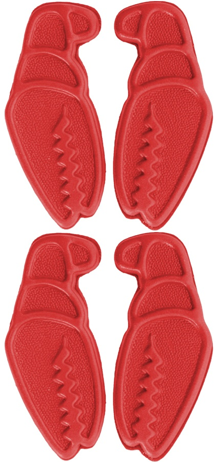 Crab Grab Mini Claws Snowboard Stomp Pad, Red