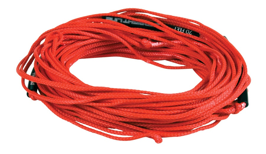 Straight Line Dyneema Wakeboard Line, 65', Red