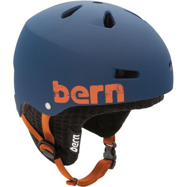 Bern Macon Hard Hat Winter Ski/Snowboard Helmet, L, Navy Blue