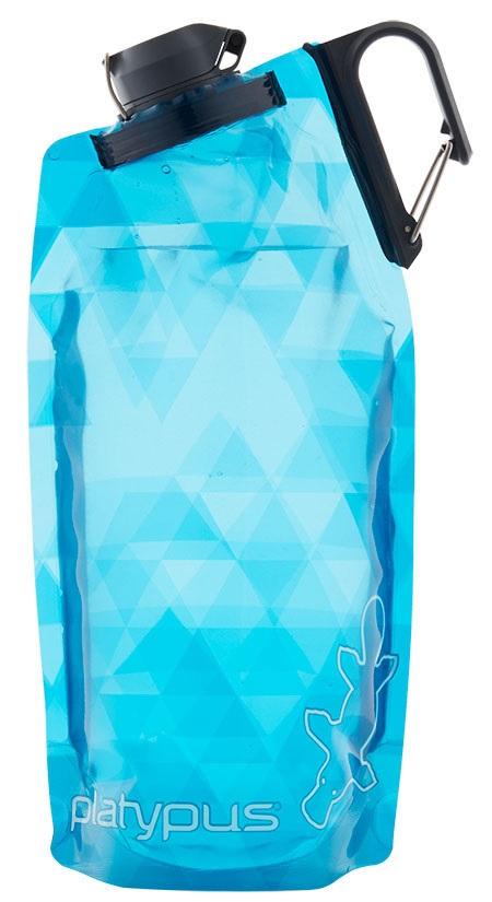 Platypus Duolock Softbottle Flexible Water Bottle, 750ml Blue Prisms
