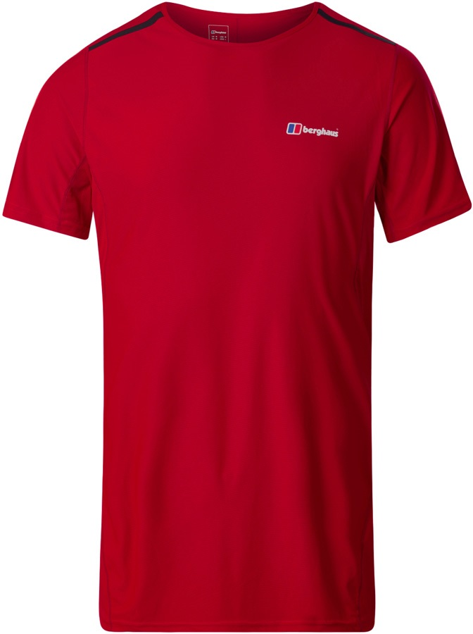 Berghaus Super Tech Short Sleeve Base Layer T-Shirt, S Haute Red