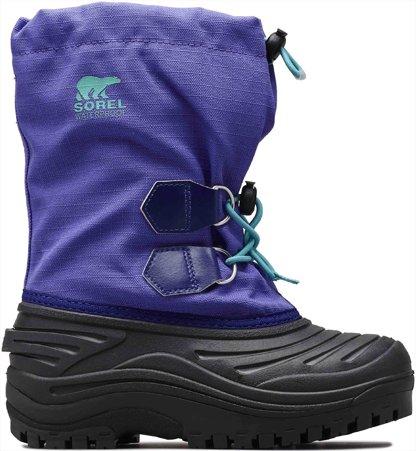 Sorel Super Trooper Kid's Snow Boots, UK Child 8 Purple Arrow/Reef