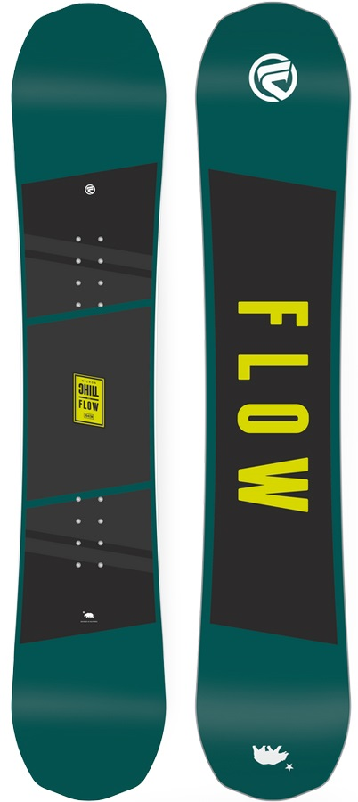 Flow Micron Chill Youth Positive Camber Snowboard, 145cm 2018