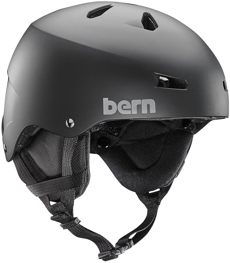 Bern Team Macon EPS Winter Ski/Snowboard Helmet, S Matte Black