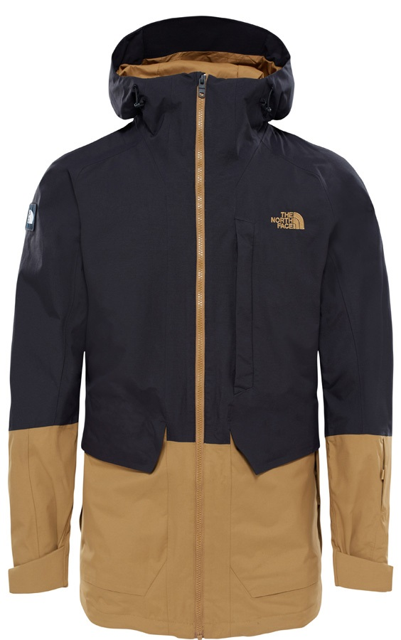 4912e2f13df134 The North Face Repko Ski/Snowboard Jacket L Black/British Khaki