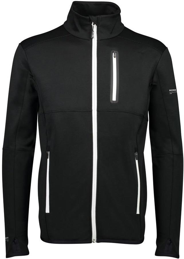 Mons Royale Approach Tech Mid Jacket, Merino Wool Midlayer, S Black