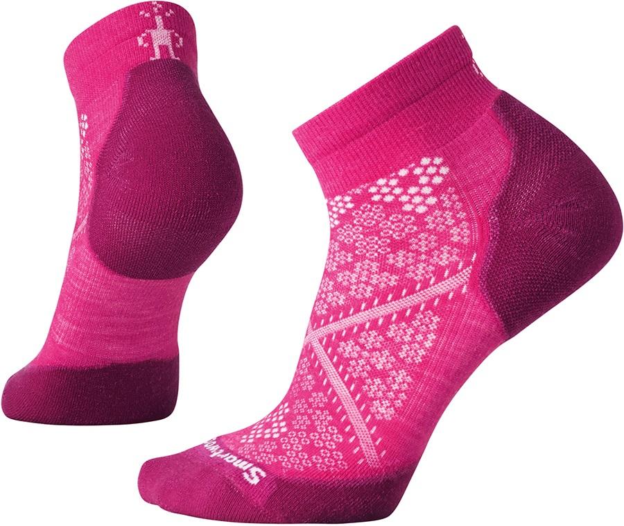 Smartwool PhD Run Light Elite Running Socks, 2-4.5 Potion Pink