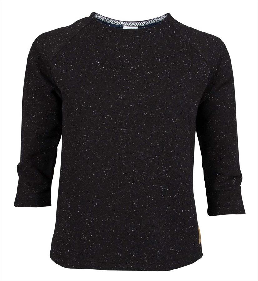 Wearcolour Grace Sweater Women's 3/4 Sleeve Sweatshirt, L Black