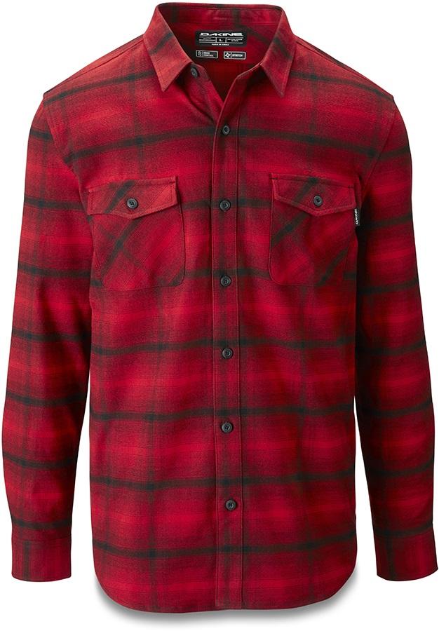 Dakine Underwood Long Sleeve Flannel Shirt, L Crimson Red