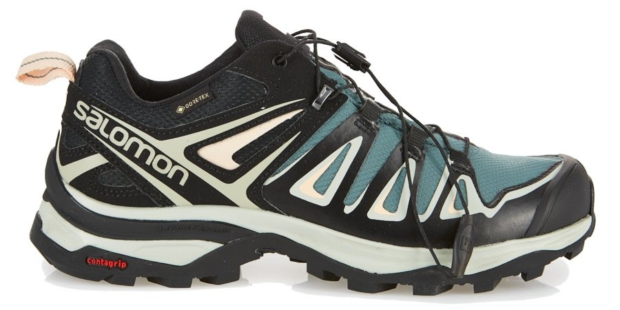 Salomon Womens X ULTRA 3 GTX Walking Shoes, UK 4 Balsam Green