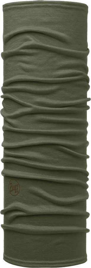 Buff Lightweight Merino Wool Neck Tube, One Size Solid Forest Night