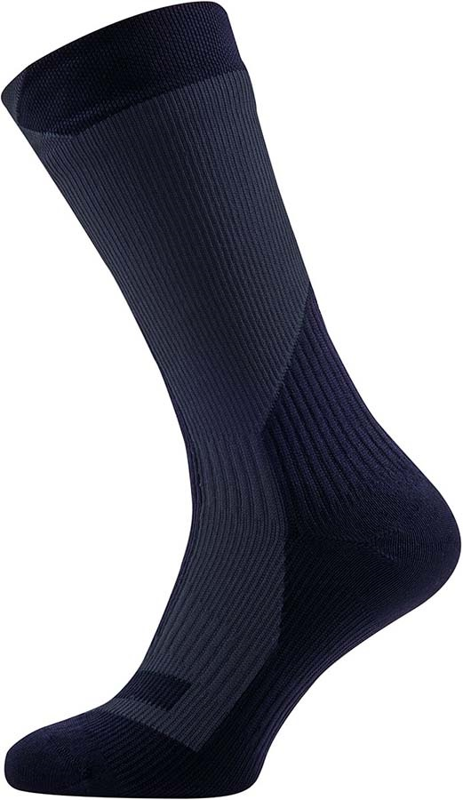 SealSkinz Trekking Thick Mid Waterproof Socks, XL Black/Anthracite