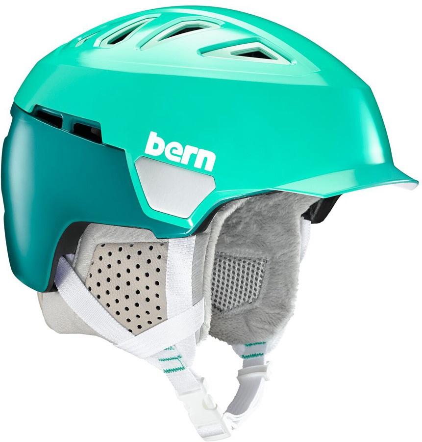 Bern Heist Brim Winter Snowboard Helmet, S Satin Teal