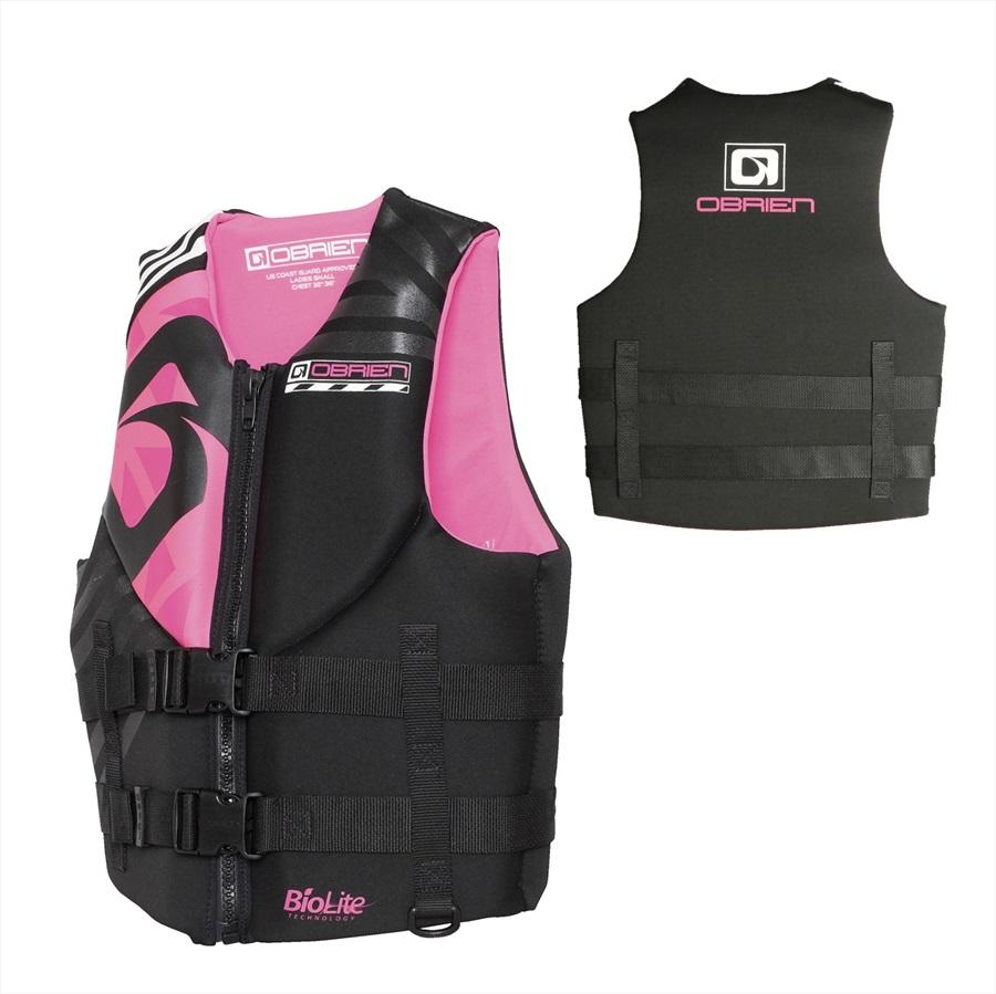 O'Brien Empress Ladies Neo Buoyancy Aid Vest, Large Black Pink