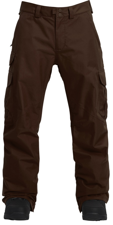 Burton Cargo Mid Fit Snowboard/Ski Pants, XL Chestnut