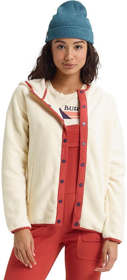 Burton Hearth Snap-Up Women's Fleece Hoodie, S Creme Brulee