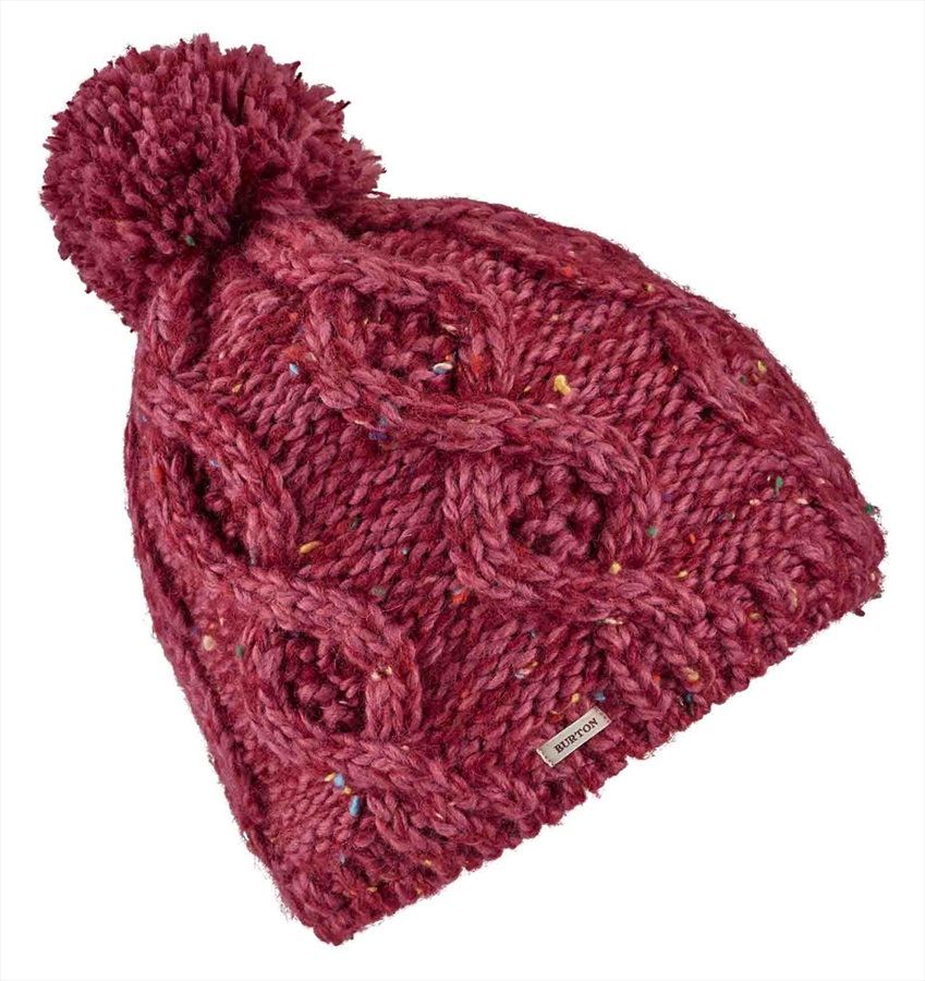 Burton Chloe Women's Ski/Snowboard Bobble Hat, One Size Rose Brown