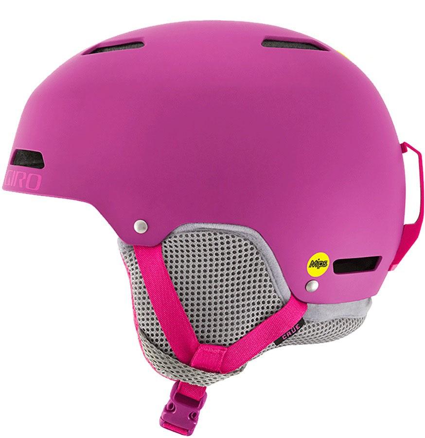 Giro Crue MIPS Kids Ski/Snowboard Helmet, M Matte Bright Pink