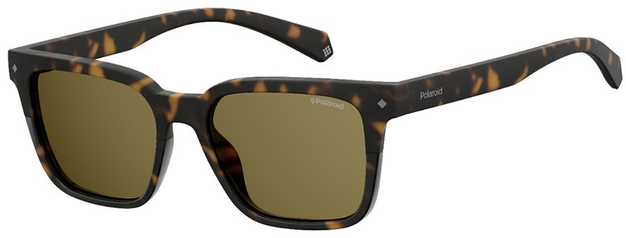 Polaroid Raven Brown Polarized Sunglasses, Dark Havana