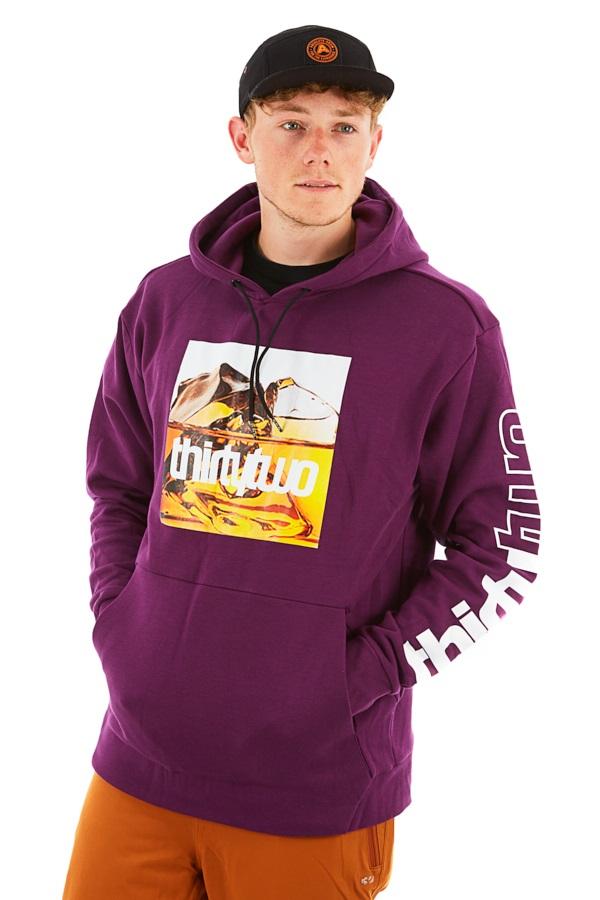 thirtytwo Boxer Graphic Pullover Ski/Snowboard Hoodie, M Deep Purple