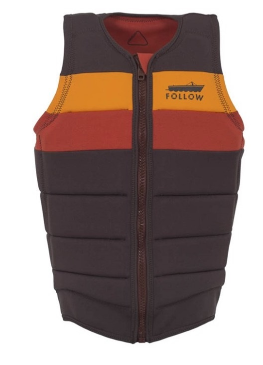 Follow Ben Horan Pro Fit Wakeboard Impact Vest, M Brown