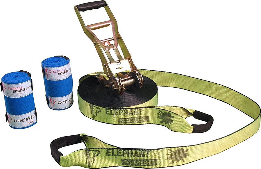Elephant Slacklines Addict Flash'line Slackline Set, 25m X 50mm Neon