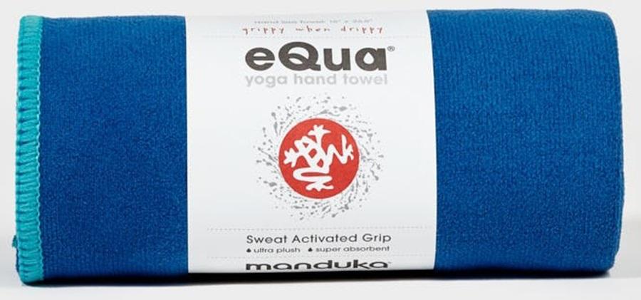 Manduka EQua Yoga Hand Towel, Pacific Blue