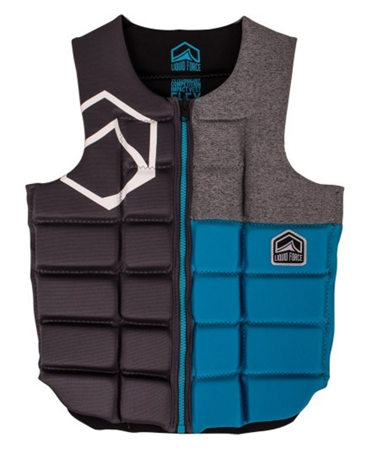 Liquid Force Flex Wakeboard Impact Vest, M Blue Grey 2019