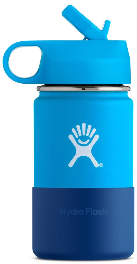 Hydro Flask Kid's 12oz Wide Mouth With Straw Lid Bottle - Pacific