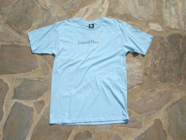 Liquid Force Digi Goth SS T Shirt, X Large, Light Blue
