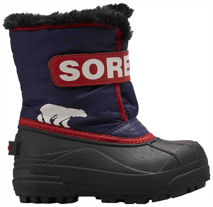 b64d0dd11b82 Sorel Snow Commander Kid's Snow Boots UK Infant 3 Nocturnal/Sail Red