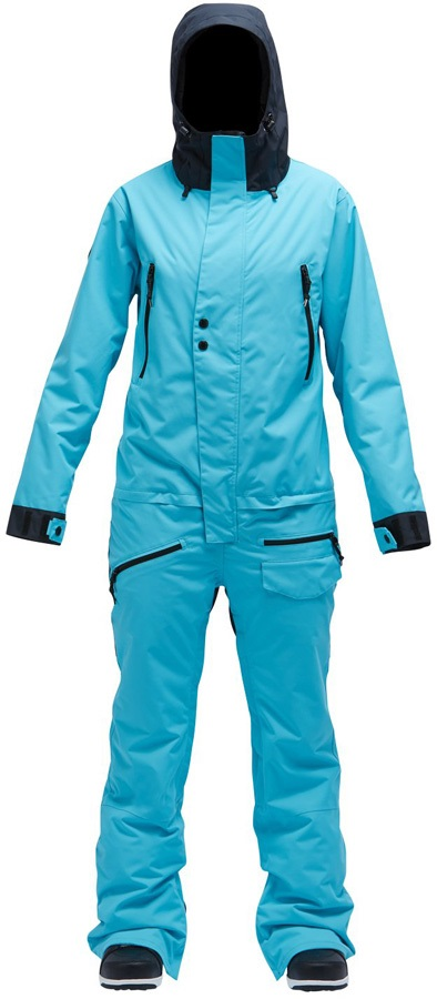 Womens Snow Suit One Piece >> Airblaster Freedom Women S Ski Snowboard One Piece Suit M Gnu Blue