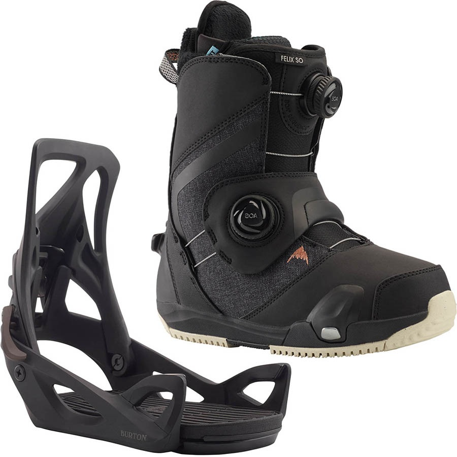 Burton Felix Step On Womens Snowboard Binding & Boots, UK 5 Black 2020