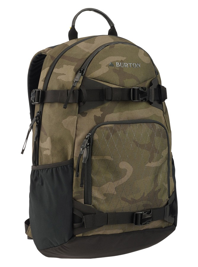 Burton Riders Snowboard Backpack, 25L Worn Camo Print