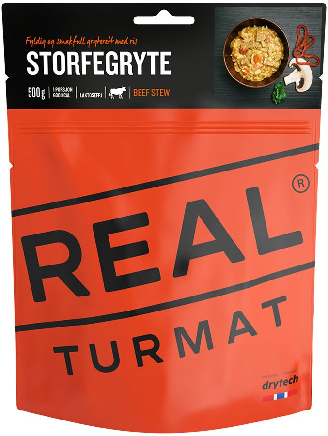 Real Turmat Beef Stew Camping & Hiking Food, Single Pouch