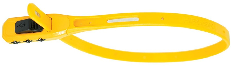 Hiplok Z Lok Combo Steel Core Cable Tie Combination Lock, 40cm Yellow
