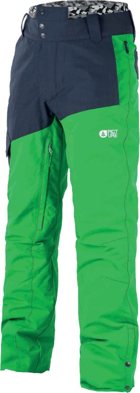 Picture Panel Ski/Snowboard Pants, S Green 2020