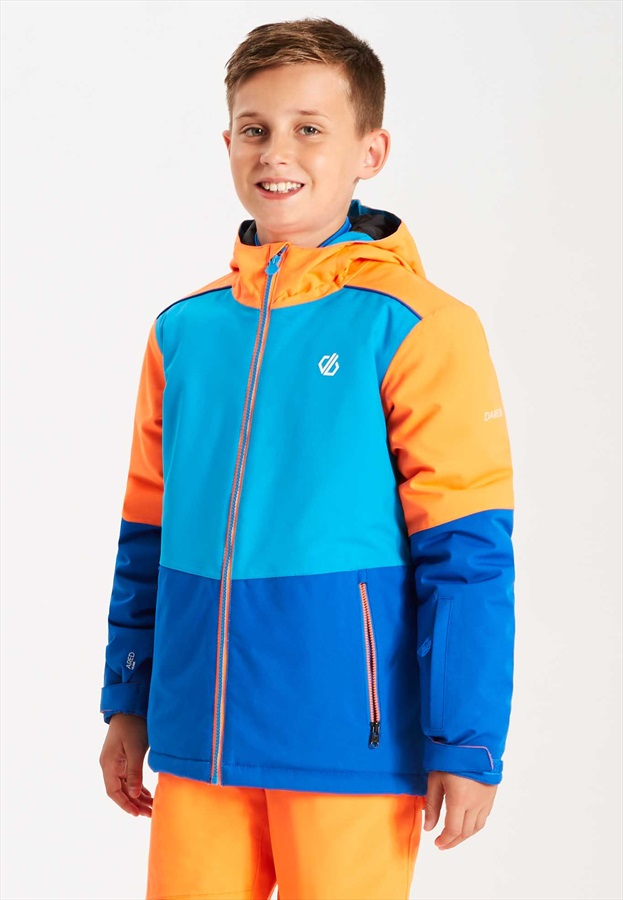 Dare 2b Aviate Kid's Ski/Snowboard Jacket Age11-12 Blue/Vibrant Orange