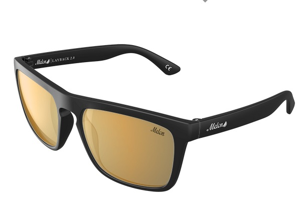 Melon Layback 2.0 Gold Chrome Polarized Sunglasses, 24k