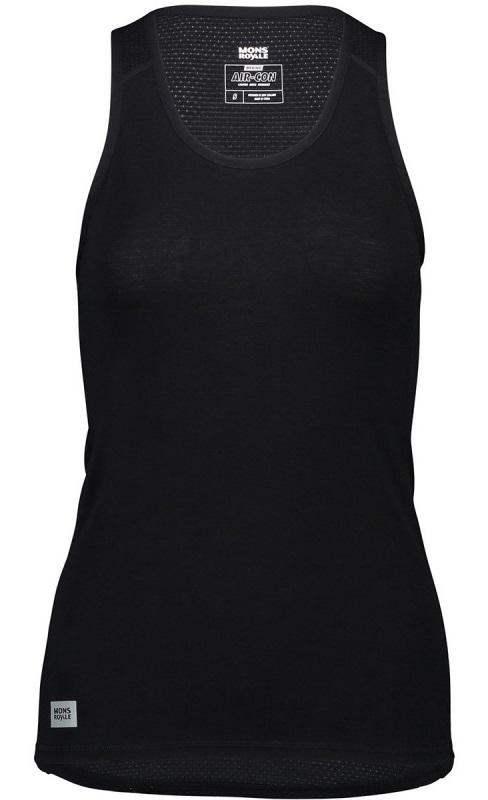 Mons Royale Bella Tech Vest Women's Merino Wool Tank Top, L Black