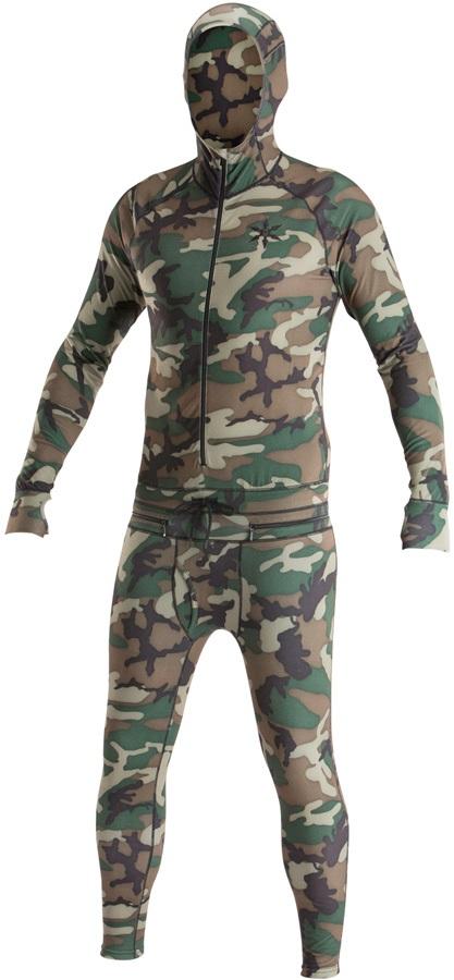 Airblaster Mens Classic Ninja Suit Hooded Base Layer, XL Camo