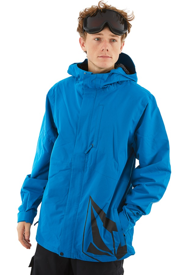 Volcom 17 Forty Insulated Ski/Snowboard Jacket S Blue