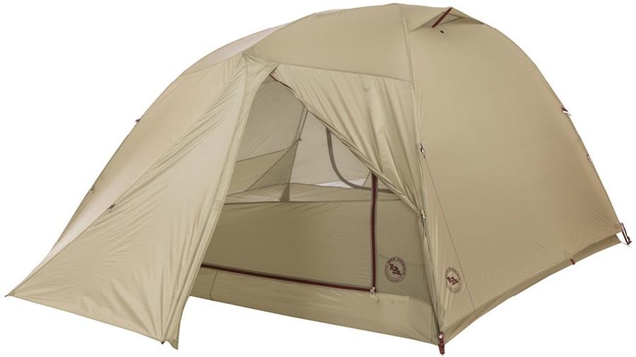 Big Agnes Copper Spur HV UL 4 Ultralight Backpacking Tent, 4 Man Olive