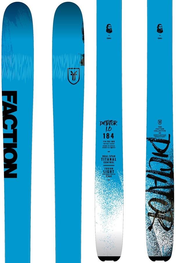 Faction Dictator 1.0 Ski Only Skis, 180cm Blue/Black 2019