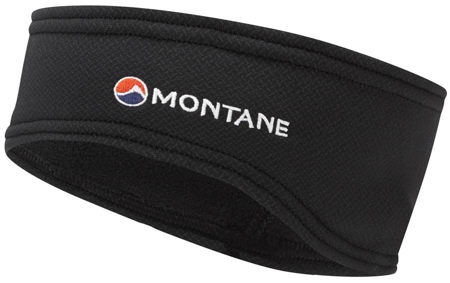 Montane Iridium Stretch Fleece Ear Dropped Headband, Black