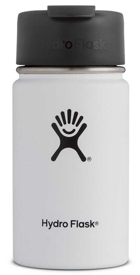 Hydro Flask 12oz Wide Mouth Flip Lid Coffee Vacuum Flask, 12oz White